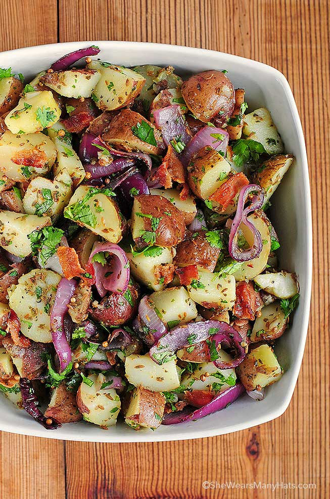 Red Potatoes With Hot Dogs