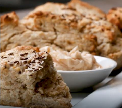 Soda Bread Scones With Irish Whiskey Butter