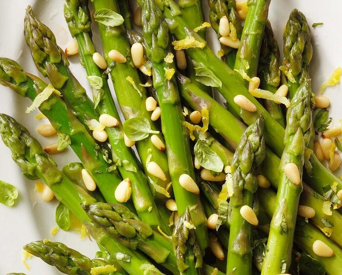 Chilled asparagus
